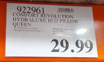 Deal for the Comfort Revolution Memory Foam & Hydraluxe Cooling Queen Bed Pillow at Costco