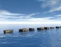 Piedra sobre el mar