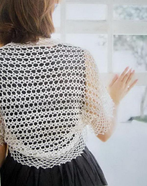 Stylish Easy Crochet: Crochet Pattern Of Simple Lace Shrug Bolero