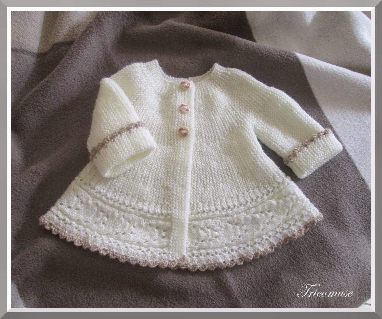 tricoter veste pour bebe