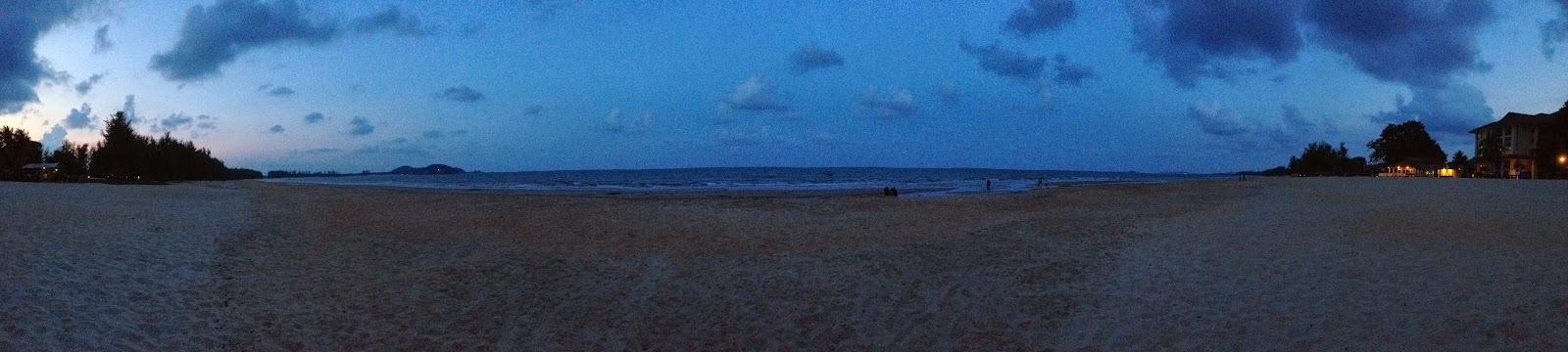 The Legend Resort Cherating beach panorama