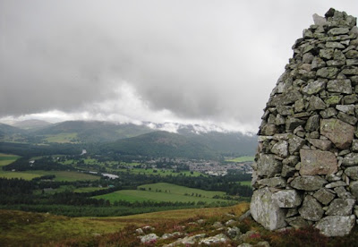 The cairn on Craig Vallich, Ballater, Deeside walks