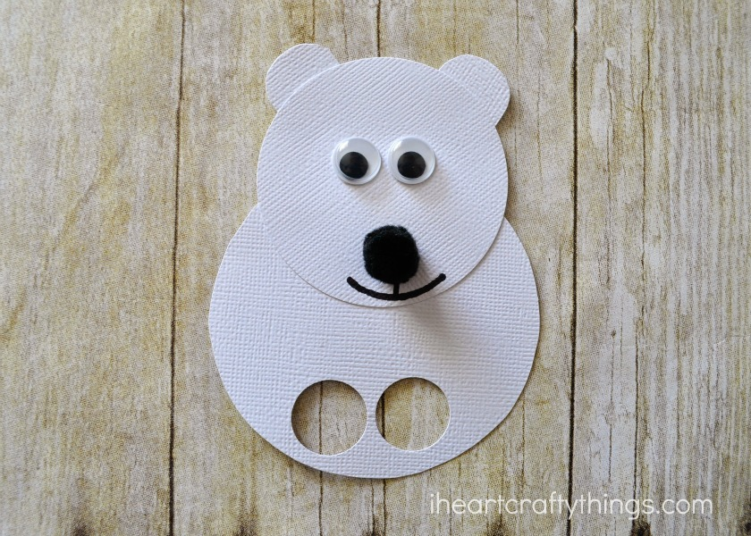 Polar bear kids craft finger puppets i heart crafty things polar bear kids craft finger puppets pronofoot35fo Images