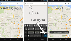 4 Step How To Save Cache Offline Maps In Google Maps 7.0 For Android