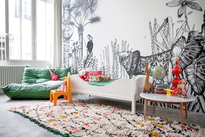 bohemian style inspiring kids room
