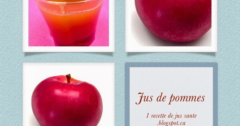 1 recette de jus sant jus de pomme. Black Bedroom Furniture Sets. Home Design Ideas