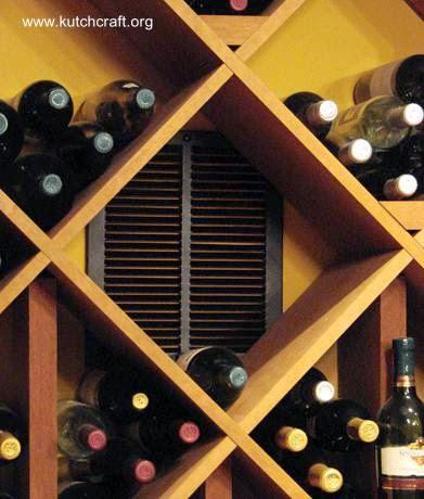 Mueble de madera para almacenar botellas de vino en el hogar