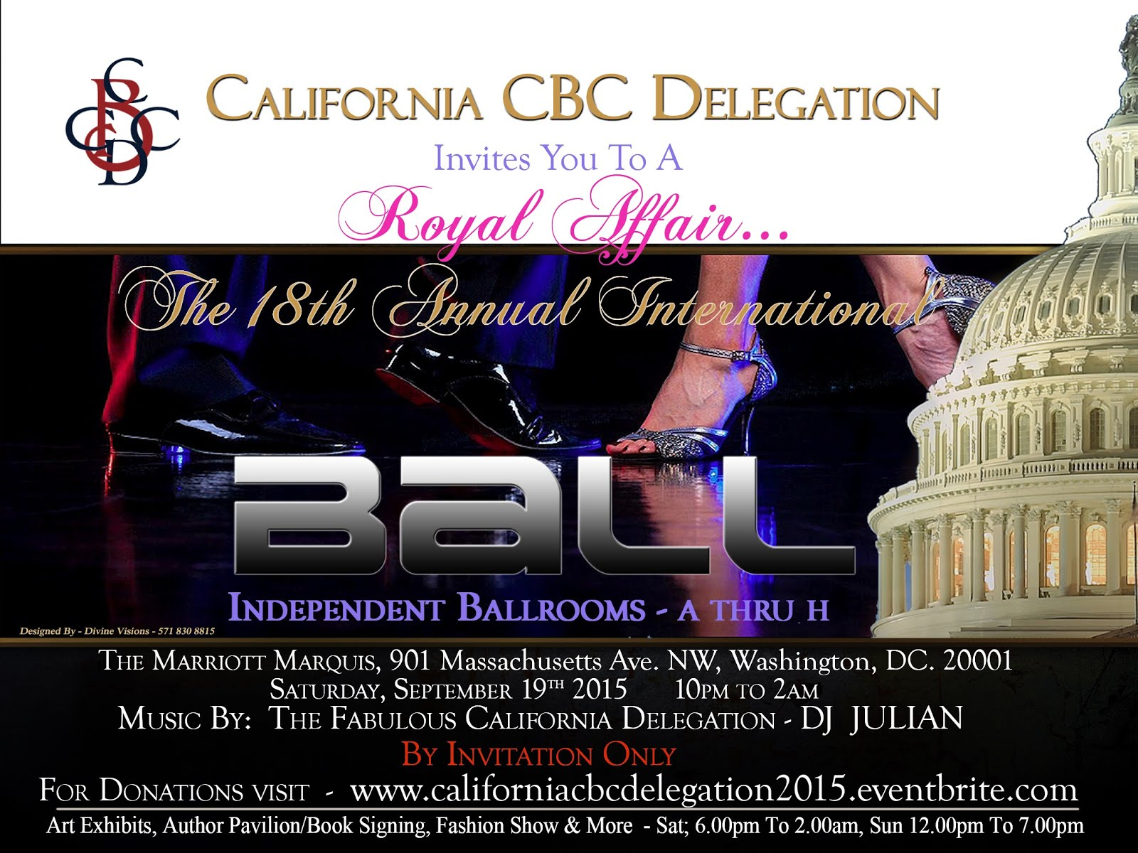 California Party General Admission Invitation - Please make Donations Below!