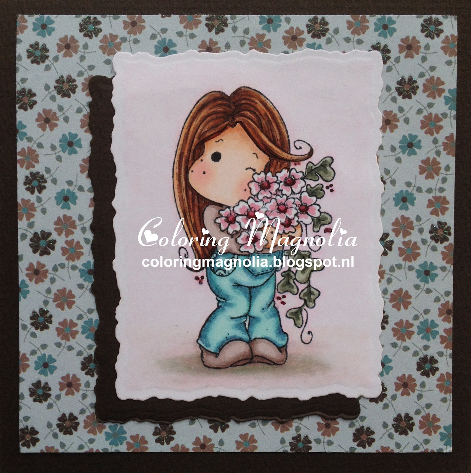 Coloring Magnolia Stamp 2013 Winter Wonderland Collection - New Year Sakura Tilda