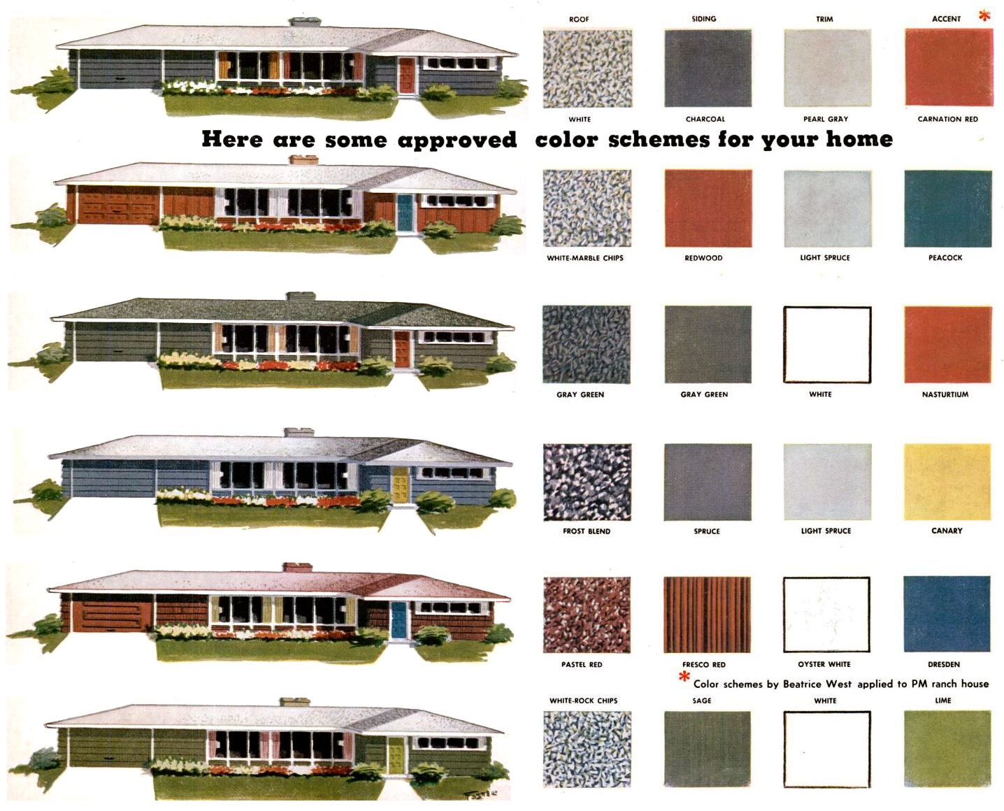 ... colors for ranch homes these approved mid century paint color schemes