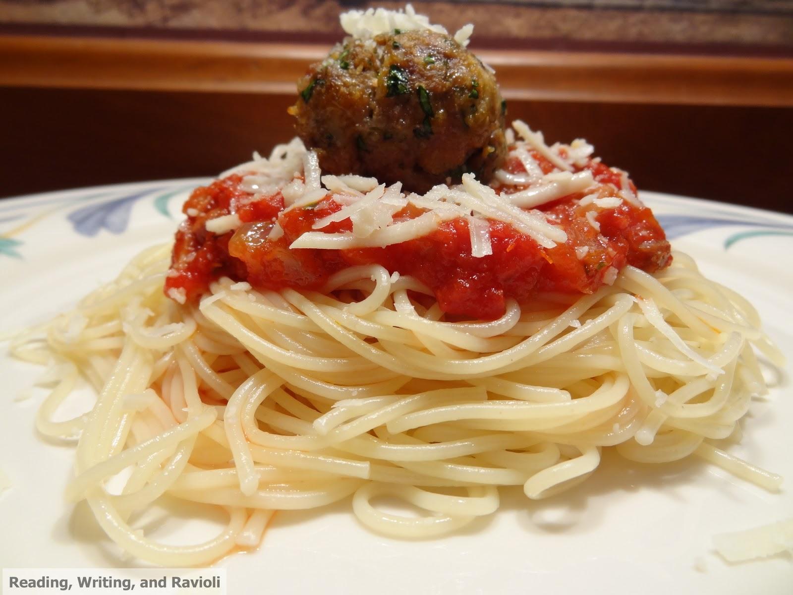 Reading, Writing, and Ravioli: Recipe: Spaghetti and ...