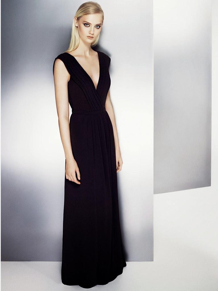 mango, 2014 elbise modelleri, 2014 gece elbiseleri, elbise, drapeli elbise, fırfırlı elbise, siyah elbise