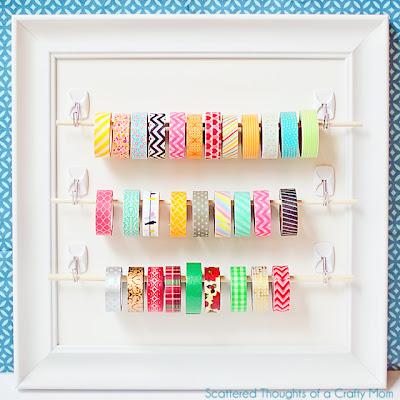 Easy Washi Tape Display Organizer