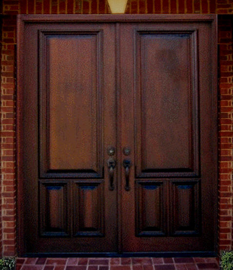 New home designs latest wooden main entrance homes doors for Exterior wooden door designs