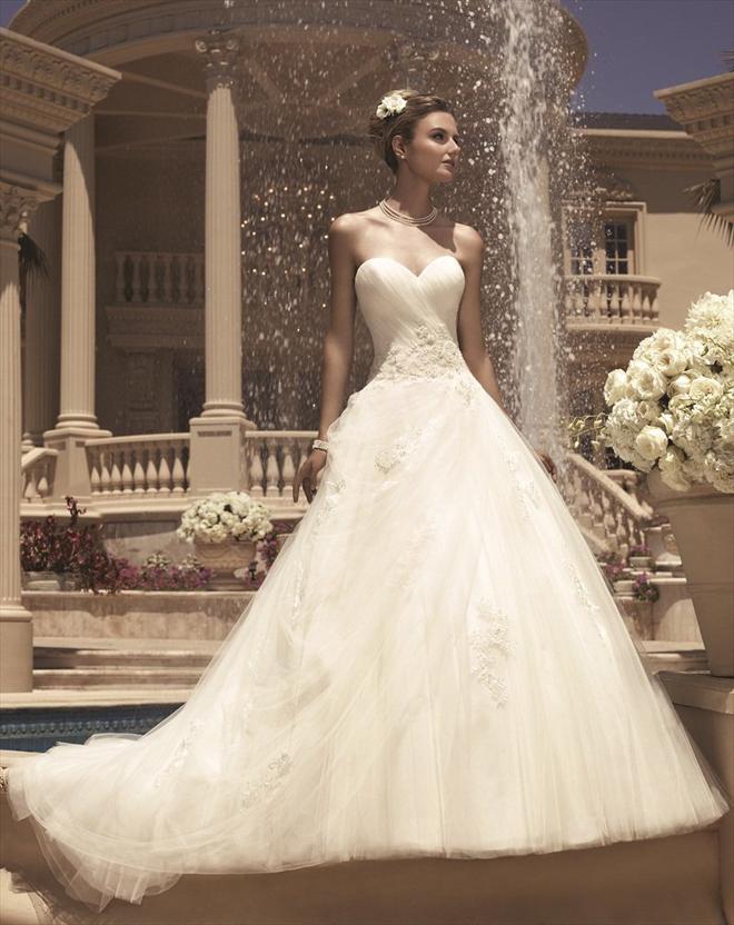 Casablanca bridal spring 2013 my dress of the week for Wedding dresses princess cut