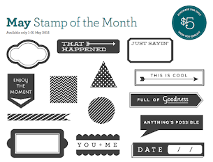 May Stamp Of The Month - Just Sayin'