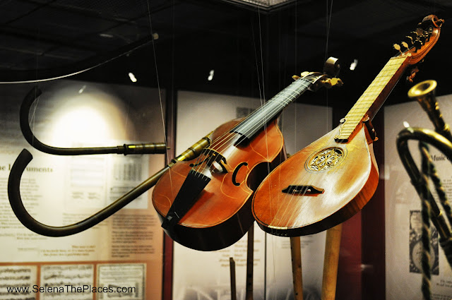 Musical instruments at Shakespeare's Globe Exhibition