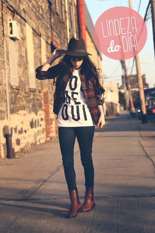 bota, chelsea, calça, tshirt, camisa xadrez, chapéu, moda, fashion, produção,