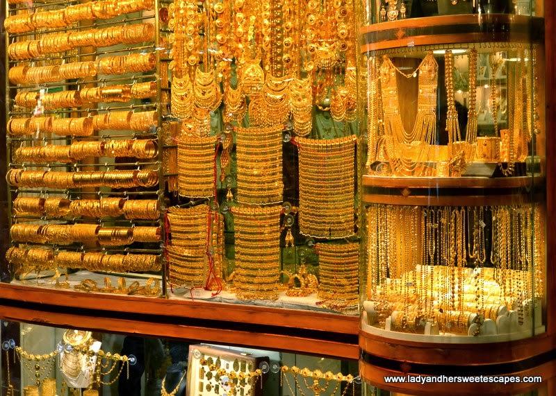 jewelry shop at Dubai Gold Souk