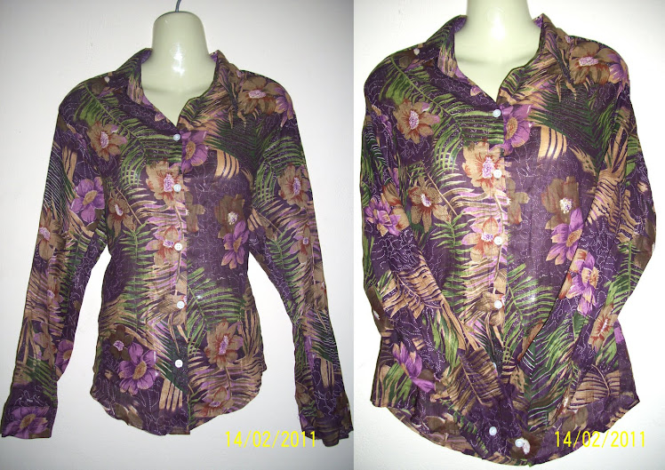 Purple Flower Blouse - FR17