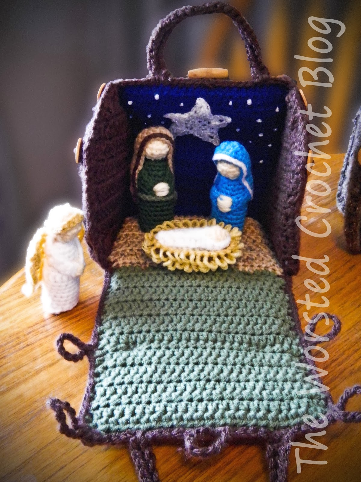 Free Crochet Patterns Nativity Scene : The Worsted Crochet Blog: Crochet Nativity Set (Part 2 ...