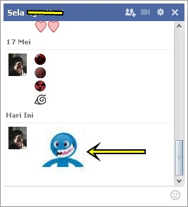 Screenshot hasil emoticon baru