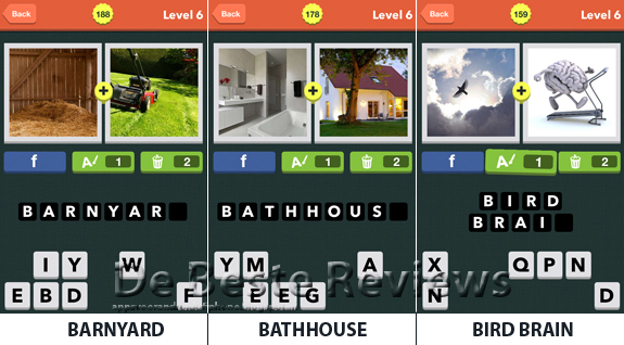 Pic Combo antwoorden, oplossingen en cheats level 6