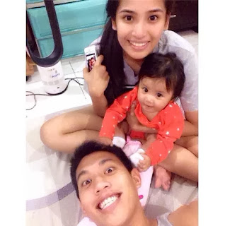 SBC Red Lions player ROME ADLER DELA ROSA with his baby Alexa Patrice