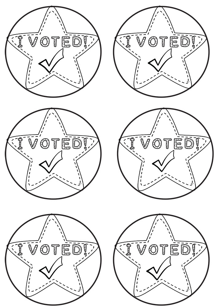 It's just an image of Old Fashioned I Voted Stickers Printable