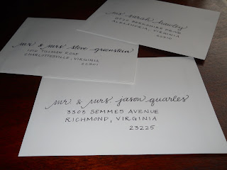 custom calligraphy wedding shower invitations