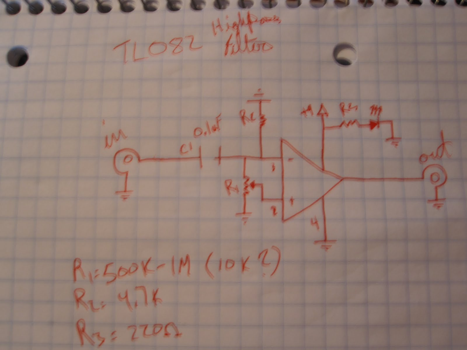 Dylan Palmes Diy Tl082 Filter Dual Operational Amplifier Schematic Heres The