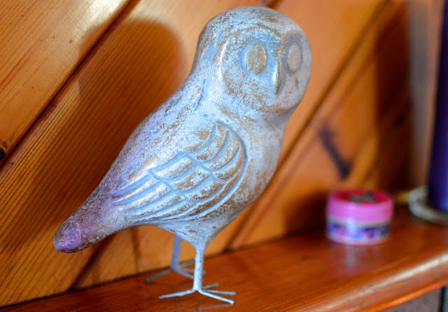 Owl Ornament on Mantelpiece