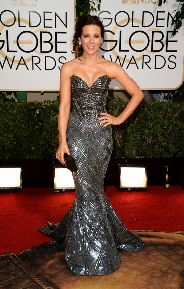 2014 Golden Globes Kate Beckinsale in Zuhair Murad