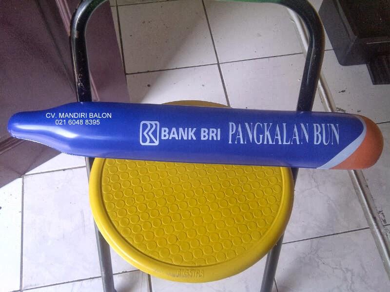BALON TEPUK LOGO BANK BRI PANGKALAN BUN