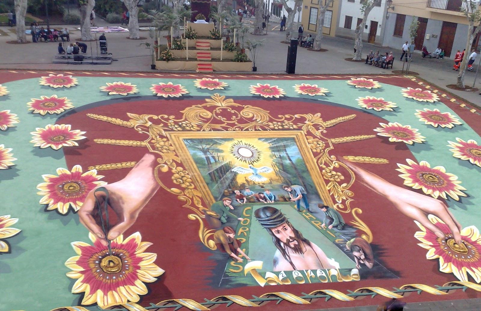 El mundo de hada alfombras del corpus 2013 en tacoronte for Alfombras el mundo