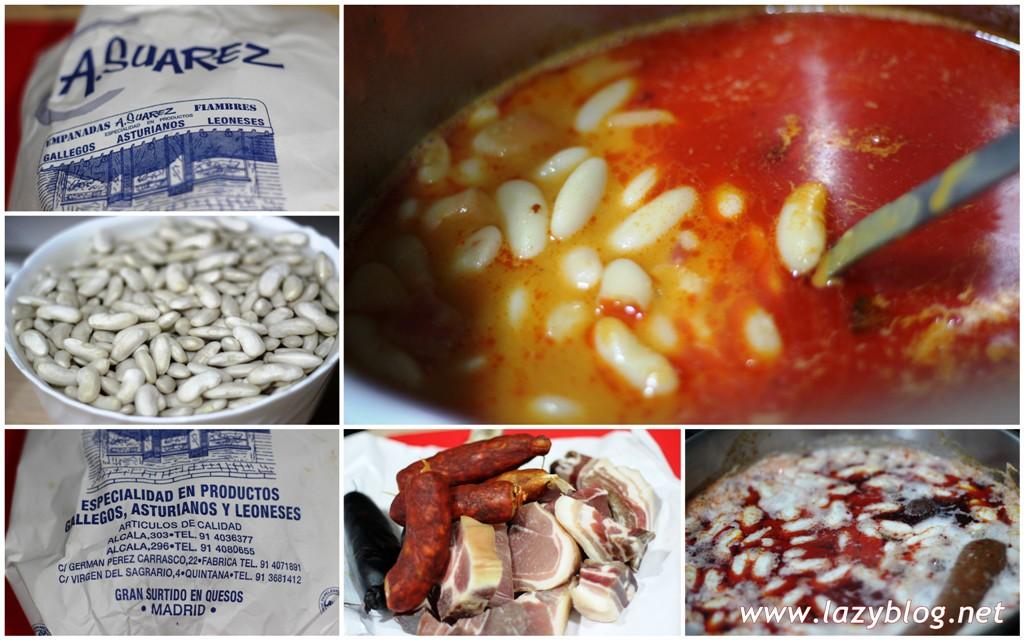 Fabada asturiana para doce personas bocaditos de lazy blog for Como cocinar fabada asturiana
