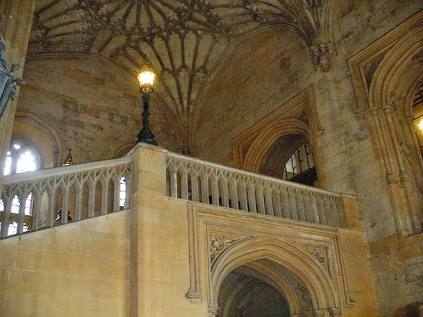 The entrance hall at Oxford University in Oxford, England