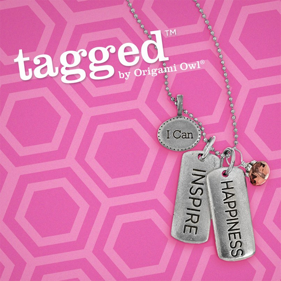 Origami Owl: I Can Inspire Happiness Tagged Necklace - create yours today at StoriedCharms.com