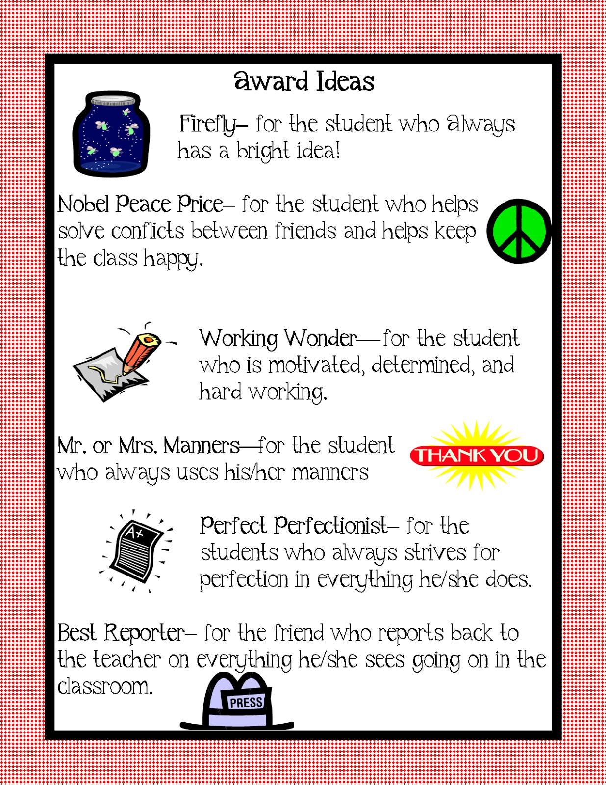 Classroom Award Ideas Elementary ~ Kindergarten squared awards ideas for your kiddos