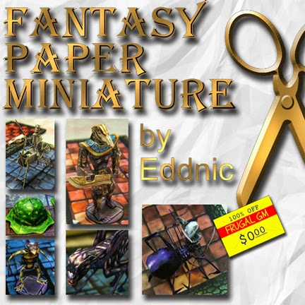 Free GM Resource: Fantasy Paper Miniature Blog