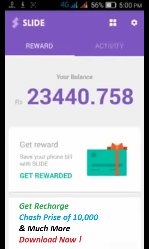 Slide Earn Free Recharge! Android Apps Pakistan on Google Play