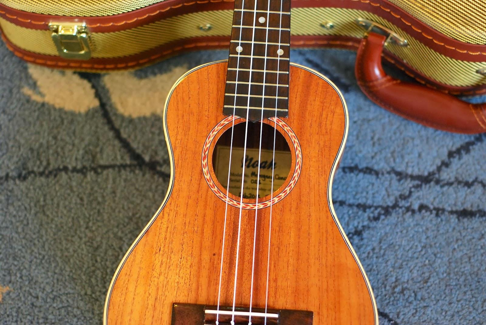 Noah mahogany concert ukulele sound hole