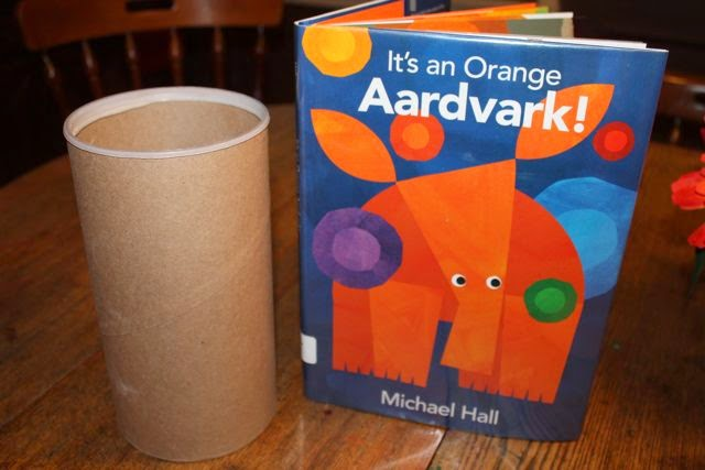 IT'S AN ORANGE AARDVARK! by Michael Hall activity via www.happybirthdayauthor.com