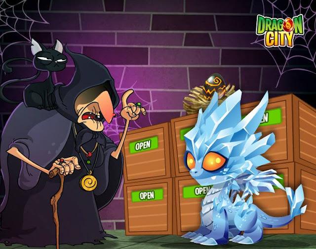 imagen del dragon glacial en caja del mercado negro del dragon