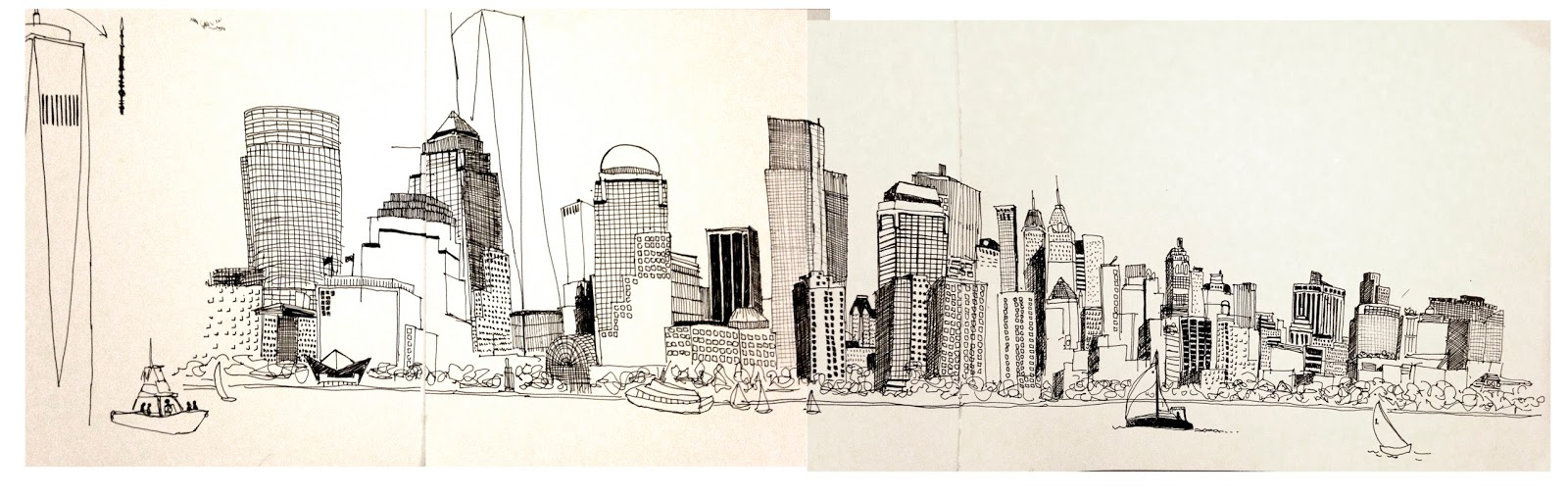 city skyline sketches - photo #29