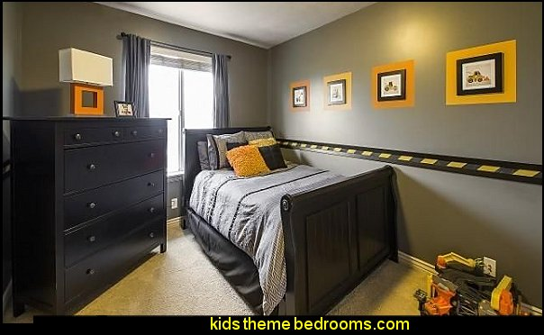 construction themed bedroom decorating ideas construction trucks themed bedroom ideas - Boys Room Lego Ideas