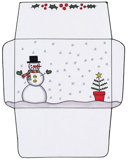 PARA IMPRIMIR: Sobres navideños