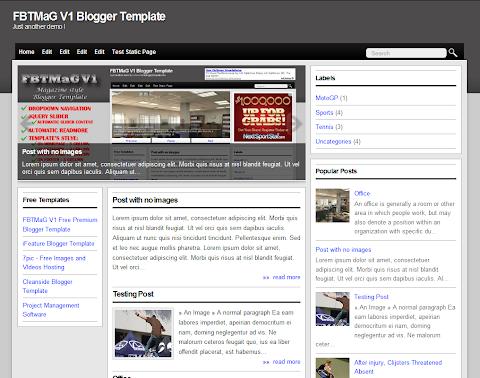 FBTMaG V1 Blogger Theme