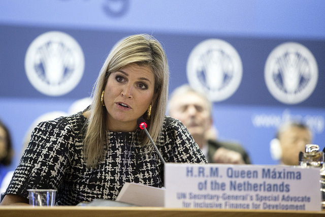 Queen Maxima is in Rome participating in the Conference