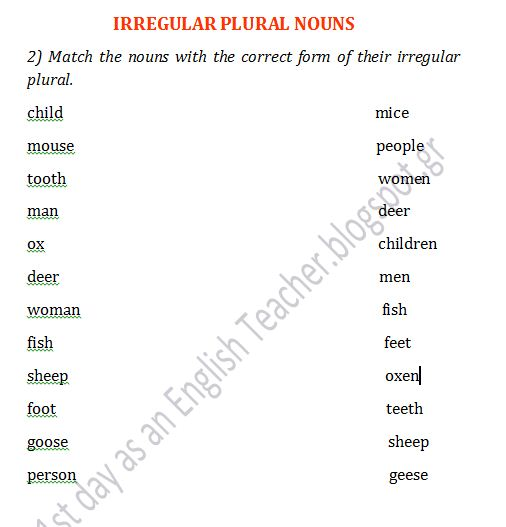 Along With Plural Nouns Worksheets First Grade In Addition Plural ...